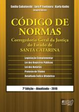 Capa do livro: Código de Normas - Corregedoria-Geral da Justiça do Estado de Santa Catarina, Organizadores: Emilio Sabatovski, Iara P. Fontoura e Karla Knihs