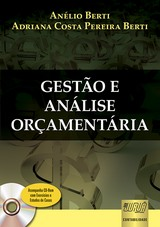 Capa do livro: Gestão e Análise Orçamentária, Anélio Berti e Adriana Costa Pereira Berti