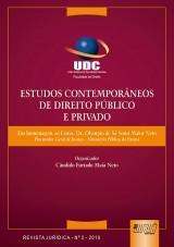 Capa do livro: Estudos Contemporâneos de Direito Público e Privado, Organizador: Cândido Furtado Maia Neto