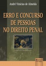 Capa do livro: Erro e Concurso de Pessoas no Direito Penal, André Vinícius de Almeida