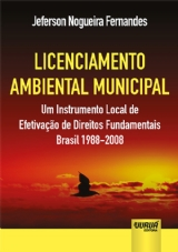 Capa do livro: Licenciamento Ambiental Municipal, Jeferson Nogueira Fernandes