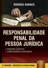 Capa do livro: Responsabilidade Penal da Pessoa Jurídica, Rodrigo Iennaco