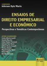 Capa do livro: Ensaios de Direito Empresarial e Econômico, Coordenador: Jeferson Dytz Marin