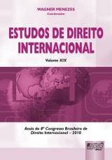 Capa do livro: Estudos de Direito Internacional - Volume XIX, Wagner Menezes