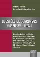 Capa do livro: Questões de Concursos - Área Federal - Nível III, Organizadores: Fernanda Tito Costa e Marcos Fabrício Welge Gonçalves