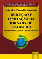Capa do livro: Redução e Limitação da Jornada de Trabalho, João Vitor Passuello Smaniotto