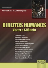 Capa do livro: Direitos Humanos - Vozes e Sil�ncio, Coordenadora: Cl�udia Maria da Costa Gon�alves