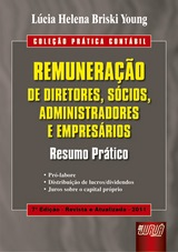 Capa do livro: Remuneração de Diretores, Sócios, Administradores e Empresários, Lúcia Helena Briski Young