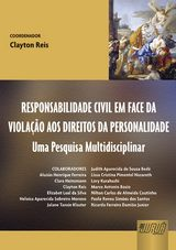 Capa do livro: Responsabilidade Civil em Face da Violação aos Direitos da Personalidade, Coordenador: Clayton Reis