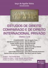 Capa do livro: Estudos de Direito Comparado e Direito Internacional Privado, Organizadora: Iacyr de Aguilar Vieira