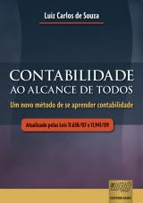 Capa do livro: Contabilidade ao Alcance de Todos, Luiz Carlos de Souza