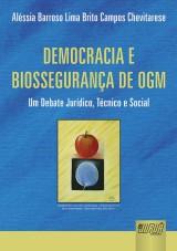 Capa do livro: Democracia e Biossegurança de OGM, Aléssia Barroso Lima Brito Campos Chevitarese