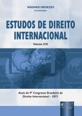 Capa do livro: Estudos de Direito Internacional - Volume XXI - Anais do 9º Congresso Brasileiro de Direito Internacional - 2011, Coordenador: Wagner Menezes