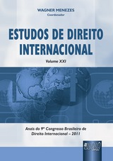 Capa do livro: Estudos de Direito Internacional - Volume XXI, Coordenador: Wagner Menezes