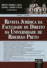 Capa do livro: Revista Jurídica da Faculdade de Direito da Universidade de Ribeirão Preto - Volume 1 - Ano 2011, Coordenadores: Bruno Freire e Silva e Daniel Carnio Costa