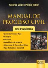 Capa do livro: Manual de Processo Civil - Fase Postulatória, Antônio Veloso Peleja Júnior