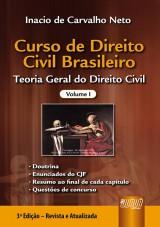 Capa do livro: Curso de Direito Civil Brasileiro - Volume I - Teoria Geral do Direito Civil, Inacio de Carvalho Neto