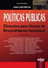 Capa do livro: Pol�ticas P�blicas - Elementos Para o Alcance do Desenvolvimento Sustent�vel, Coordenadora: Danielle Anne Pamplona