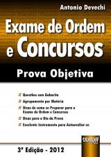 Capa do livro: Exame de Ordem e Concursos - Prova Objetiva, Antonio Devechi