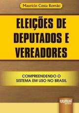 Capa do livro: Eleições de Deputados e Vereadores, Maurício Costa Romão