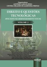 Capa do livro: Direito e Questões Tecnológicas Aplicados no Desenvolvimento Social - Volume 2, Organizadores: Antônio Carlos Efing e Cinthia Obladen de Almendra Freitas
