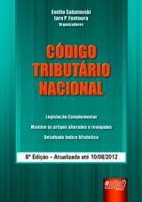 Capa do livro: C�digo Tribut�rio Nacional, 8� Edi��o - Atualizada at� 10/08/2012, Organizadores: Emilio Sabatovski, Iara P. Fontoura