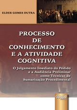 Capa do livro: Processo de Conhecimento e a Atividade Cognitiva, Elder Gomes Dutra