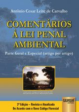 Capa do livro: Comentários à Lei Penal Ambiental, Antônio Cesar Leite de Carvalho