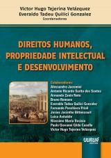 Capa do livro: Direitos Humanos, Propriedade Intelectual e Desenvolvimento, Coordenadores: Victor Hugo Tejerina Velázquez e Everaldo Tadeu Quilici Gonzalez