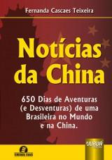 Capa do livro: Notícias da China, Fernanda Cascaes Teixeira