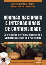 Capa do livro: Normas Nacionais e Internacionais de Contabilidade - Comentadas de Forma Resumida e Comparadas com os CPCs e IFRS, Everson Luiz Breda Carlin e Wilson Alberto Zappa Hoog