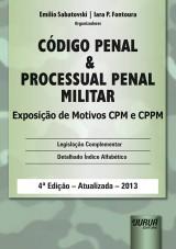 Capa do livro: Código Penal e Processual Penal Militar, Organizadores: Emilio Sabatovski e Iara P. Fontoura