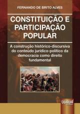 Capa do livro: Constituição e Participação Popular, Fernando de Brito Alves