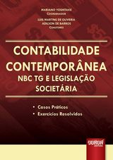 Capa do livro: Contabilidade Contemporânea - NBC TG e Legislação Societária, Coordenador: Mariano Yoshitake - Coautores: Luis Martins de Oliveira e Adilson de Barros
