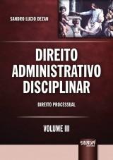 Capa do livro: Direito Administrativo Disciplinar, Sandro Lucio Dezan