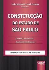 Capa do livro: Constituição do Estado de São Paulo, Organizadores: Emilio Sabatovski, Iara P. Fontoura e Karla Knihs