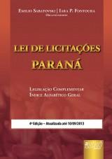 Capa do livro: Lei de Licitações - Paraná, Organizadores: Emilio Sabatovski e Iara P. Fontoura
