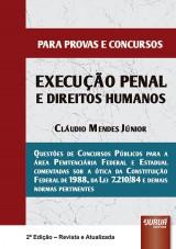 Capa do livro: Execução Penal e Direitos Humanos - Para Provas e Concursos, Cláudio Mendes Júnior