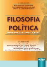 Capa do livro: Filosofia Política - Emancipação e Espaço Público, Coordenadores: José Henrique Sousa Assai, Ricardo George de Araújo Silva, Antonio Glaudenir Brasil Maia