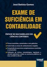 Capa do livro: Exame de Suficiência em Contabilidade, José Batista Gomes