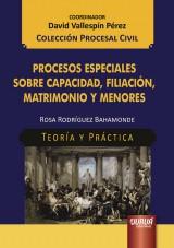 Capa do livro: Procesos Especiales sobre Capacidad, Filiación, Matrimonio Y Menores, Rosa Rodríguez Bahamonde