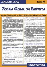 Capa do livro: Resumos Juruá - Direito - Teoria Geral da Empresa - Volume 01, Vinicius Roberto Prioli de Souza e Renata Rivelli Martins dos Santos