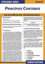 Capa do livro: Resumos Juru� - Cont�bil - Princ�pios Cont�beis - Volume 01, June Alisson Westarb Cruz e Emir Guimar�es Andrich