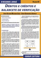 Capa do livro: Resumos Juruá - Contábil - Débitos e Créditos e Balancete de Verificação, June Alisson Westarb Cruz e Emir Guimarães Andrich