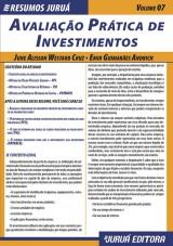 Capa do livro: Resumos Juruá - Contábil - Avaliação Prática de Investimentos, June Alisson Westarb Cruz e Emir Guimarães Andrich