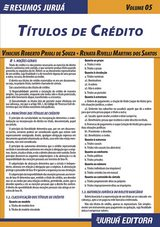 Capa do livro: Resumos Juruá - Direito - Títulos de Crédito, Vinicius Roberto Prioli de Souza e Renata Rivelli Martins dos Santos