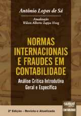 Capa do livro: Normas Internacionais e Fraudes em Contabilidade, Antônio Lopes de Sá - Revista e Atualizada por Wilson Alberto Zappa Hogg