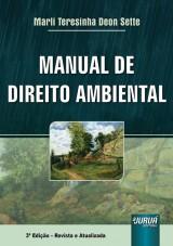 Capa do livro: Manual de Direito Ambiental, Marli Teresinha Deon Sette