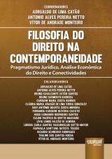 Capa do livro: Filosofia do Direito na Contemporaneidade, Coordenadores: Adrualdo de Lima Catão, Antonio Alves Pereira Netto e Vítor De Andrade Monteiro