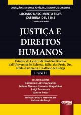 Capa do livro: Justiça e Direitos Humanos, Coordenadores: Luciano Nascimento Silva e Caterina Del Bene